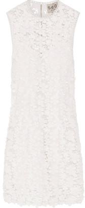 SEA - Appliquéd Guipure Cotton-lace Mini Dress - White $495 thestylecure.com
