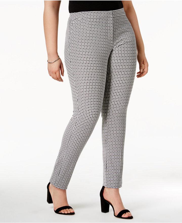 AlfaniAlfani Plus Size Printed Skinny Pants, Only at Macy's