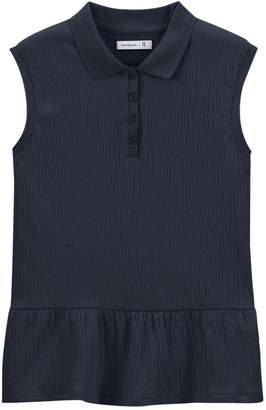 c2ce7df94d3 La Redoute COLLECTIONS Peplum Sleeveless Polo T-Shirt