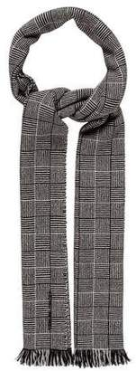 Tomas Maier Patterned Frayed Scarf