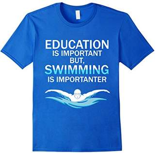 Funny Competitive Swimming Shirt Education Is Important Bu