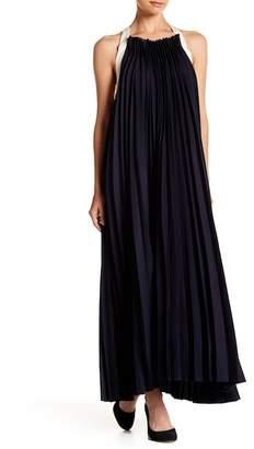Gracia Sleeveless Pleated Maxi Dress