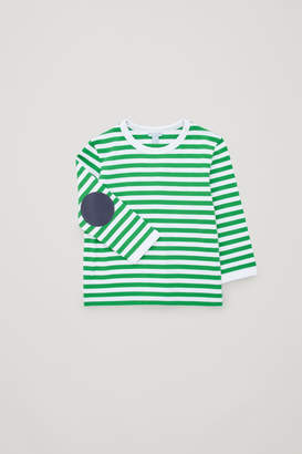 Cos STRIPED TOP WITH ELBOW PATCHES