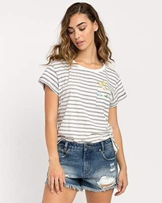 RVCA Junior's Rocket Babe Short Sleeve Pocket T-Shirt