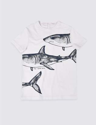 Marks and Spencer Easy Dressing Shark T-Shirt