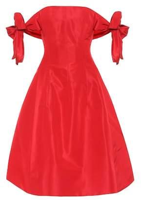 Oscar de la Renta Silk satin off-the-shoulder dress