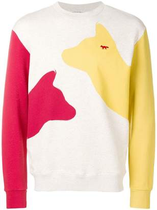 MAISON KITSUNÉ Meeting Foxes sweatshirt