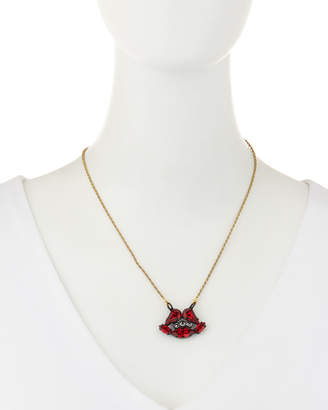 Swarovski Tova Crystal Lip Pendant Necklace