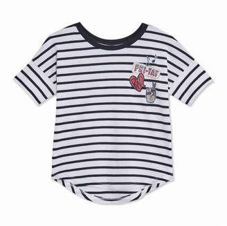 Joe Fresh Toddler Girls Stripe Round Hem Tee