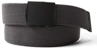 Banana Republic Solid Stretch-Web Plaque Buckle Belt