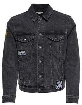 ONLY & SONS Coin Acid Wash Denim Jacket