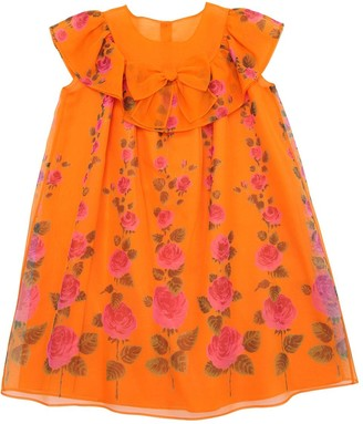 Gucci Roses Print Silk Organza Party Dress