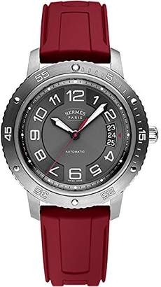 Hermes Men's 41mm Automatic Red Rubber Stainless Steel Case Watch 038912WW00