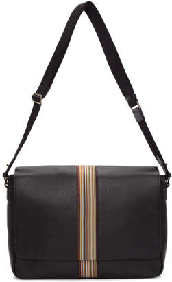 Paul Smith Black Multistripe Messenger Bag