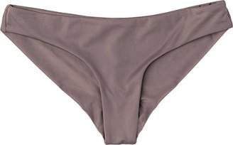 RVCA Women's Solid Low-Rise Cheeky Swimsuit Bikini Bottom