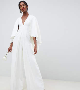Asos Tall EDITION Tall cape wedding jumpsuit