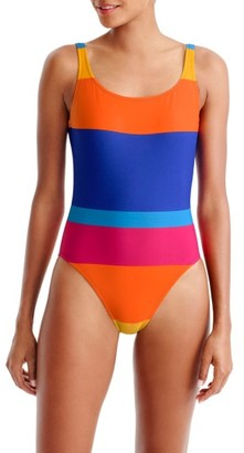 Women's J.crew Martinique Stripe U-Back One-Piece Swimsuit $98 thestylecure.com