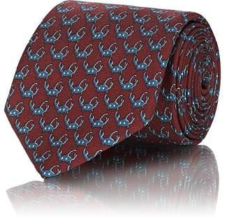 Prada Men's Scorpion-Print Silk Twill Necktie