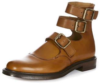 Vivienne Westwood Joseph Cheaney & Son Unisex Three Strap Boots Chestnut Tan