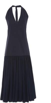Tibi Punto Milano Cotton halter dress