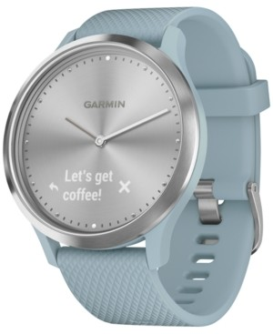 Garmin Unisex vivomove Hr Sport Seafoam Silicone Strap Hybrid Touchscreen Smart Watch 43mm