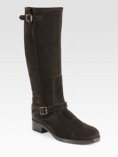 Saks Fifth Avenue 10022-SHOE San Francisco Suede Knee-High Boots