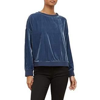 Kenneth Cole Women's Zipper Velvet Sweatshirt