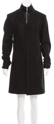 Theory Wool Notch-Lapel Coat w/ Tags