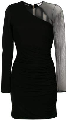 Balmain sheer sleeve mini dress