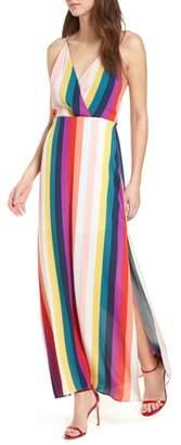 Lush Surplice Maxi Dress
