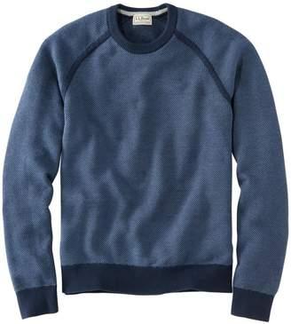 L.L. Bean L.L.Bean Men's Cotton/Coolmax Performance Crewneck Sweater, Slightly Fitted Long-Sleeve