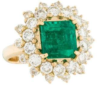 Ring 18K Emerald & Diamond