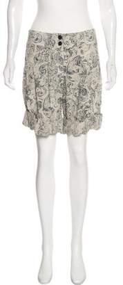 Phi Silk Printed Shorts