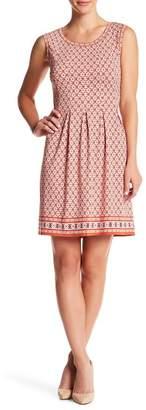 Max Studio Print Fit & Flare Dress