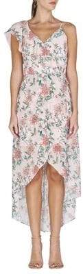 Adelyn Rae Hannah Floral-Printed Hi-Lo Dress