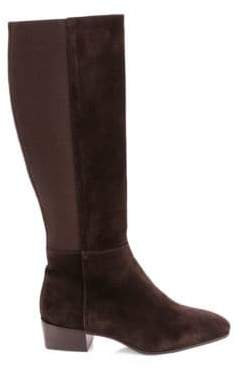 Aquatalia Women's Finola Suede Knee-High Boots - Black - Size 9
