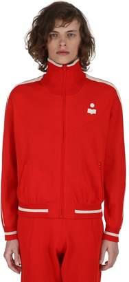 Isabel Marant Dani Zip-Up Viscose Jersey Track Jacket
