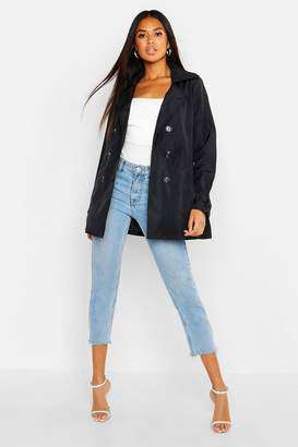 boohoo Double Breasted Short Trench