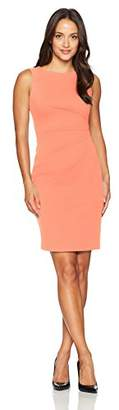 Calvin Klein Women's Petite Sleeveless Starburst Sheath Dress