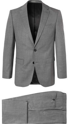 HUGO BOSS Grey Novan/Ben Slim-Fit Melange Super 120s Virgin Wool Suit - Men - Gray