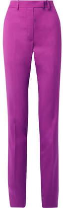 Calvin Klein Wool Slim-leg Pants - Violet