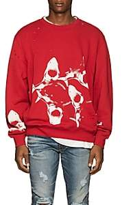 Amiri Men's Shark-Print Cotton Sweatshirt-Red