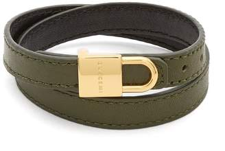 Buscemi Wraparound leather bracelet
