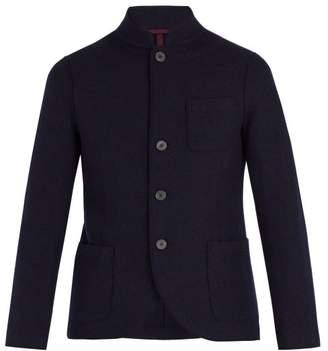 Harris Wharf London - Stand Collar Virgin Wool Jacket - Mens - Blue