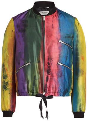 Saint Laurent Silk Bomber Jacket