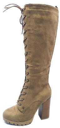 Adore Clothes & More Suede Lace-Up Boots