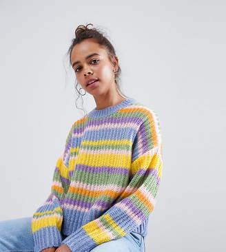 Asos DESIGN Petite chunky sweater in stripe