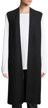 Eileen Fisher Lightweight Boiled Wool Vest