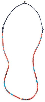 Mikia Snake Bead Necklace $265 thestylecure.com