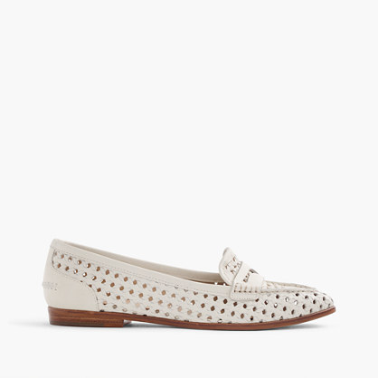 J.Crew Collins woven-leather loafers